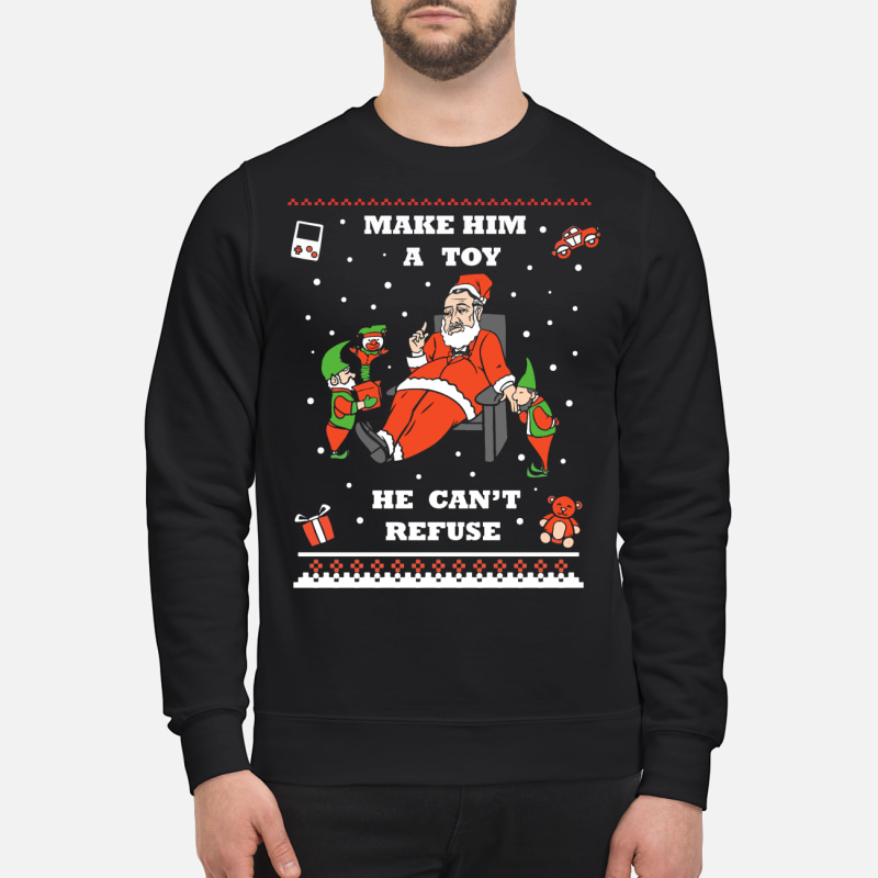 Make him a toy he can't refuse ugly Christmas sweater