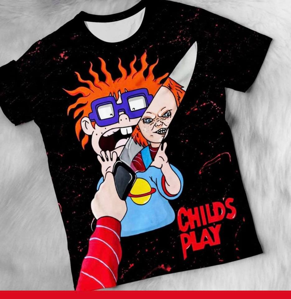 Rugrats scared Chuckie Child's play shirt