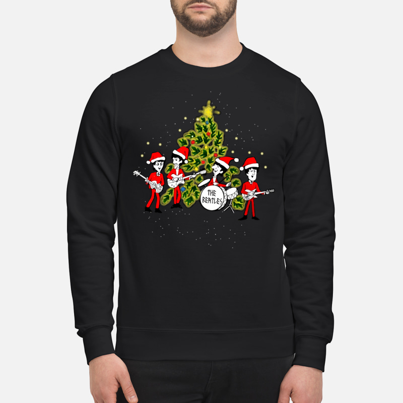 The Beatles chibi ugly Christmas sweater