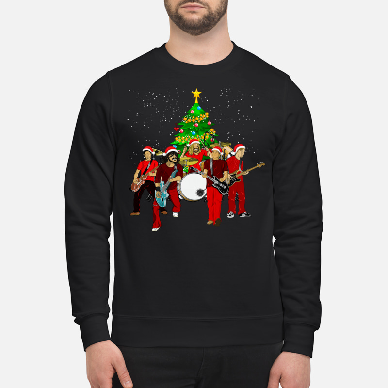 Foo Fighters Christmas Tree Sweater Hoodie And T Shirt