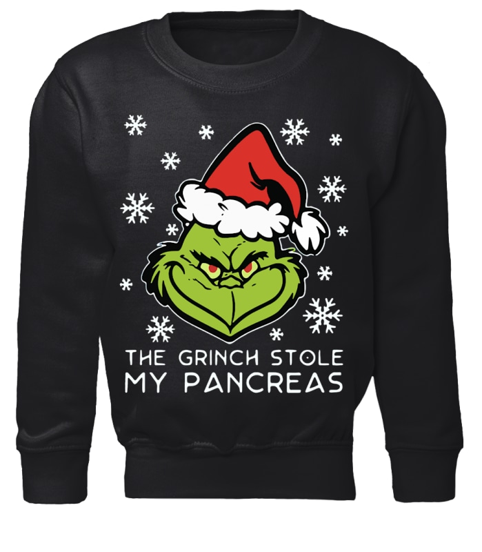 The Grinch stole my pancreas Christmas sweater