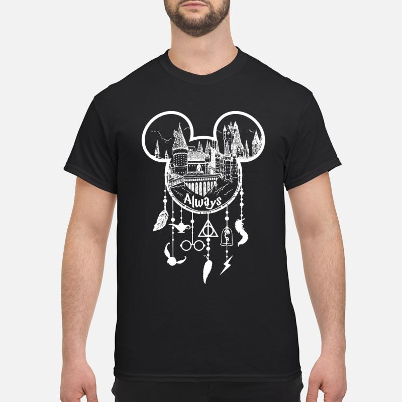 Mickey mouse Hogwarts always dream catcher shirt