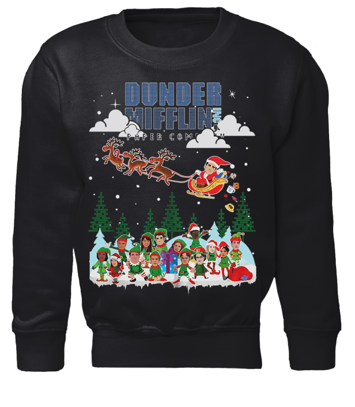 NBC The Office Dunder Mifflin ugly Christmas sweater