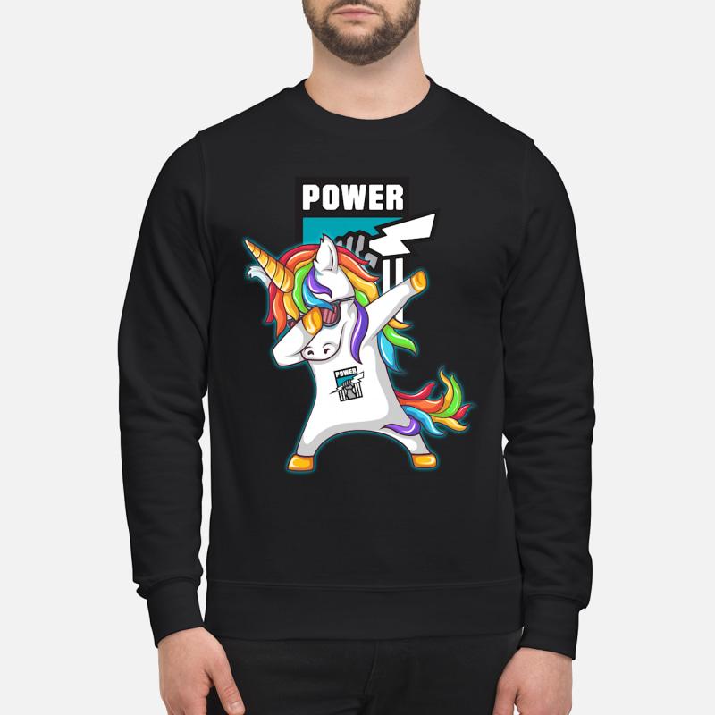 Santa Unicorn Port Adelaide power dabbing shirt