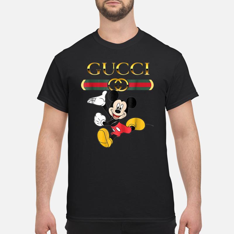 93525f822c7 Gucci stripe happy stylish Mickey Mouse shirt