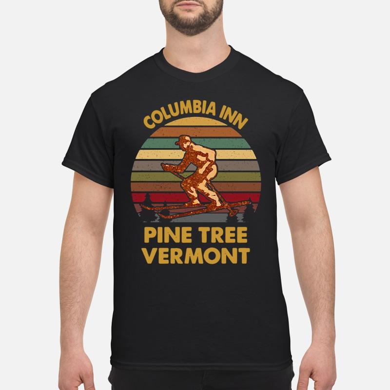Vintage Columbia Inn pine tree Vermont shirt