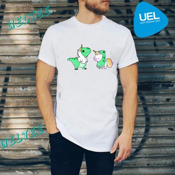 Baby Dinosaur T-Rex and Unicorn shirt