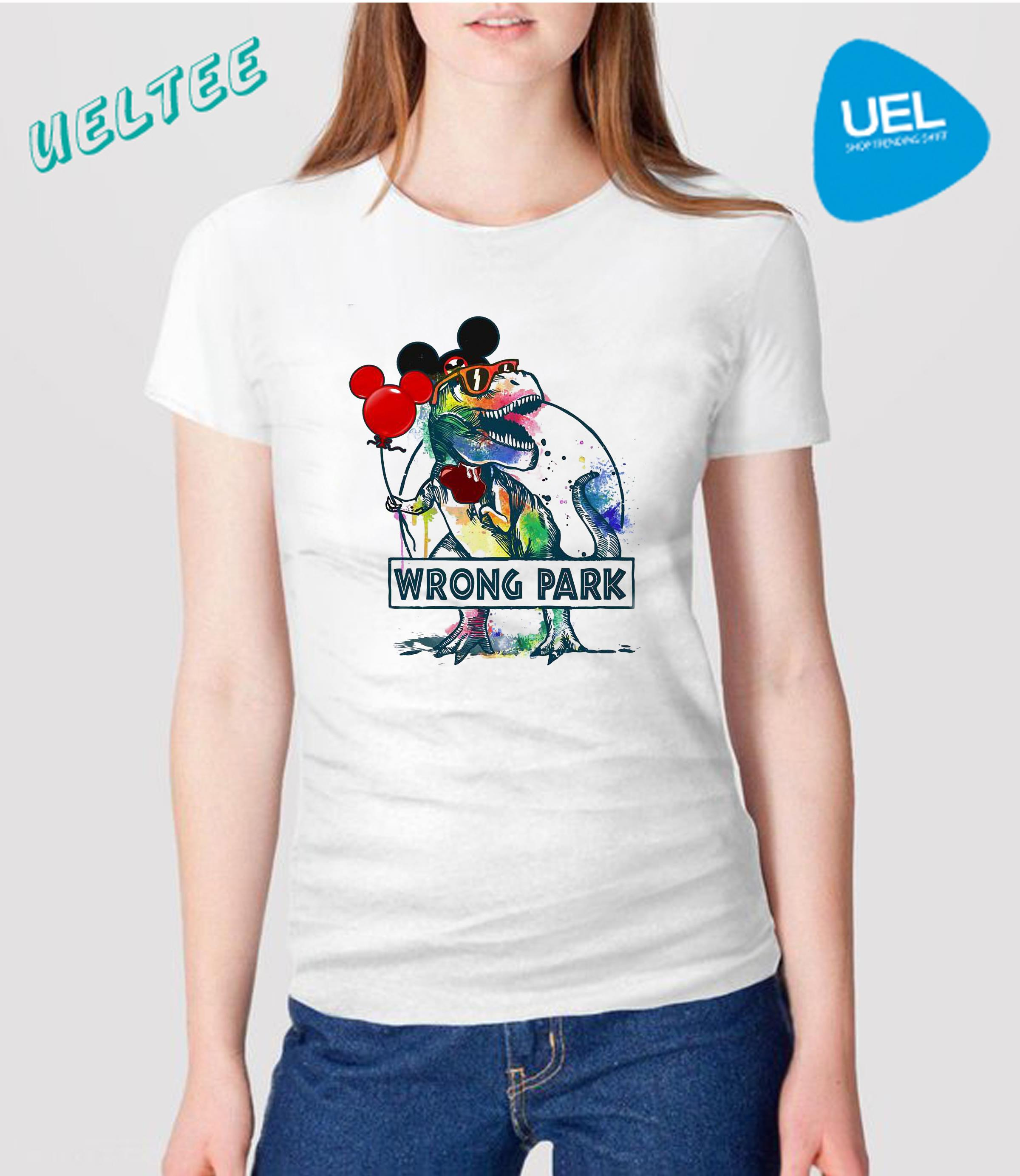 133fc8dc7 Dinosaur T-rex and Mickey mouse wrong park shirt, sweater, hoodie ...