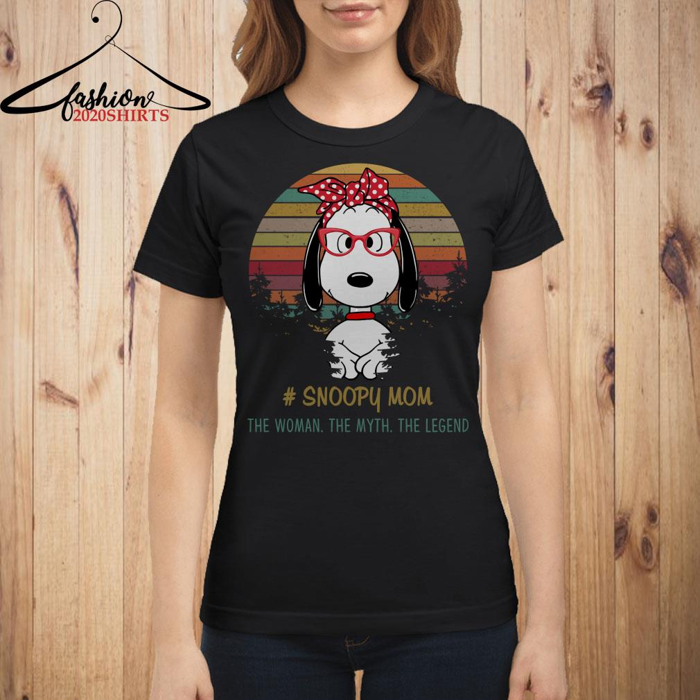 Snoopy mom the woman the myth the legend vintage shirt