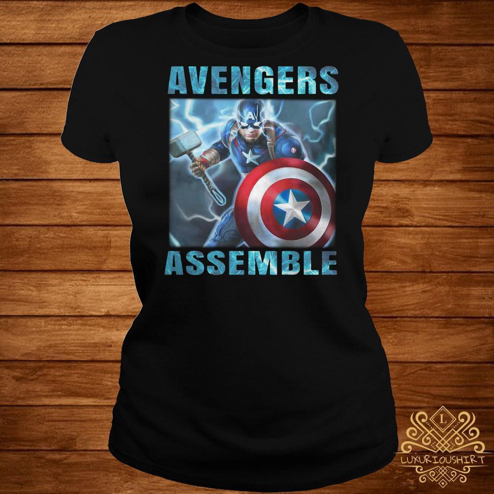 Captain America Avengers Assemble Mjolnir shirt