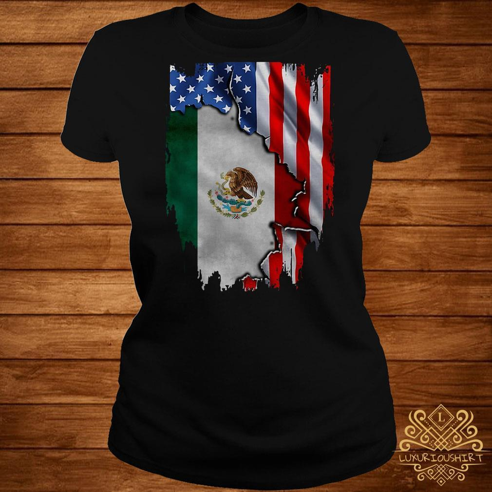 Flag of American and Mexico shirt