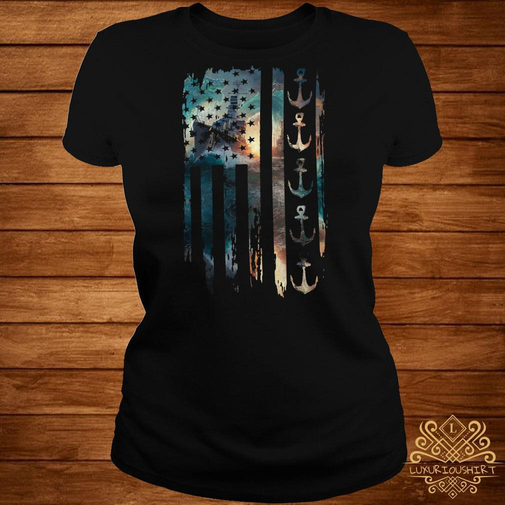 Navy Veteran flag shirt