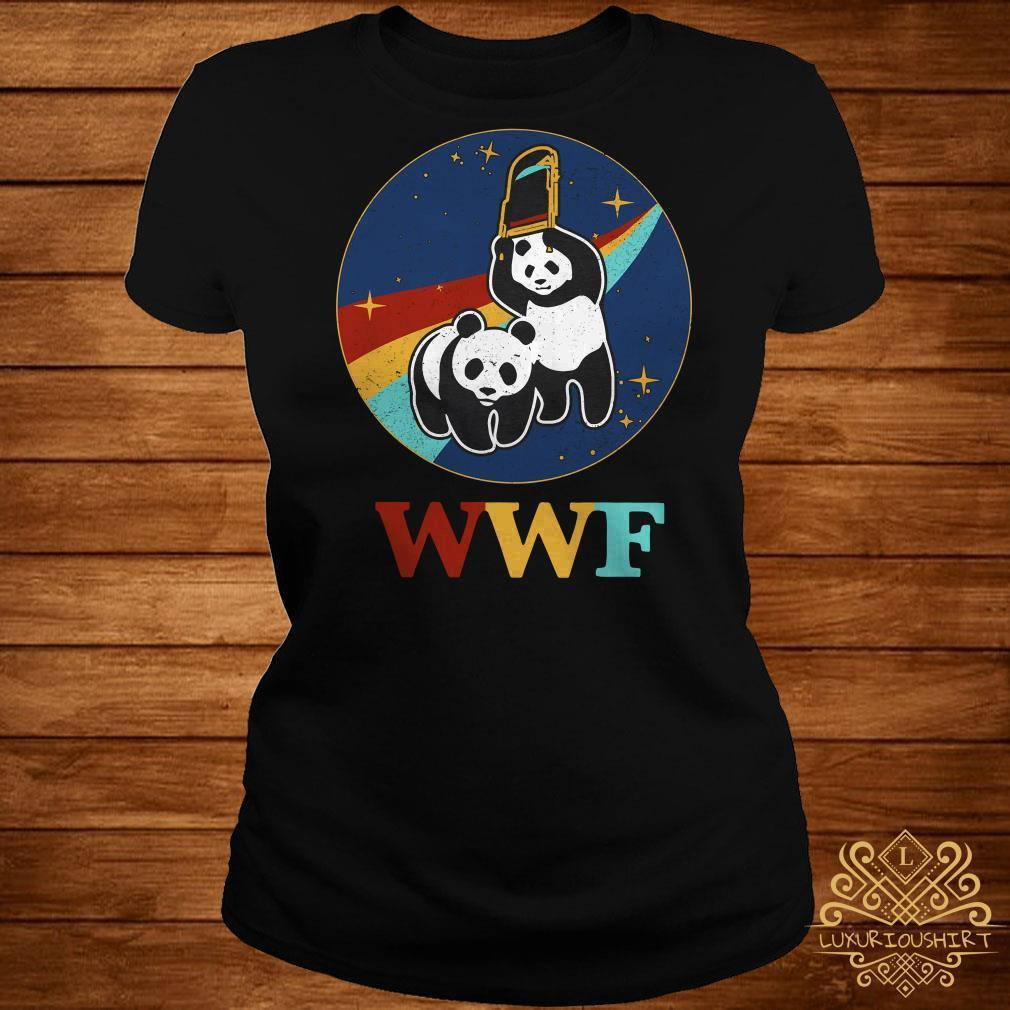 WWF panda bear Wrestling NASA shirt