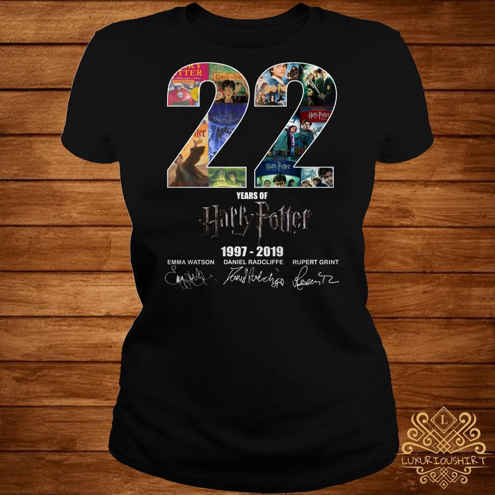 22 year of Harry Potter 1997-2019 signature shirt