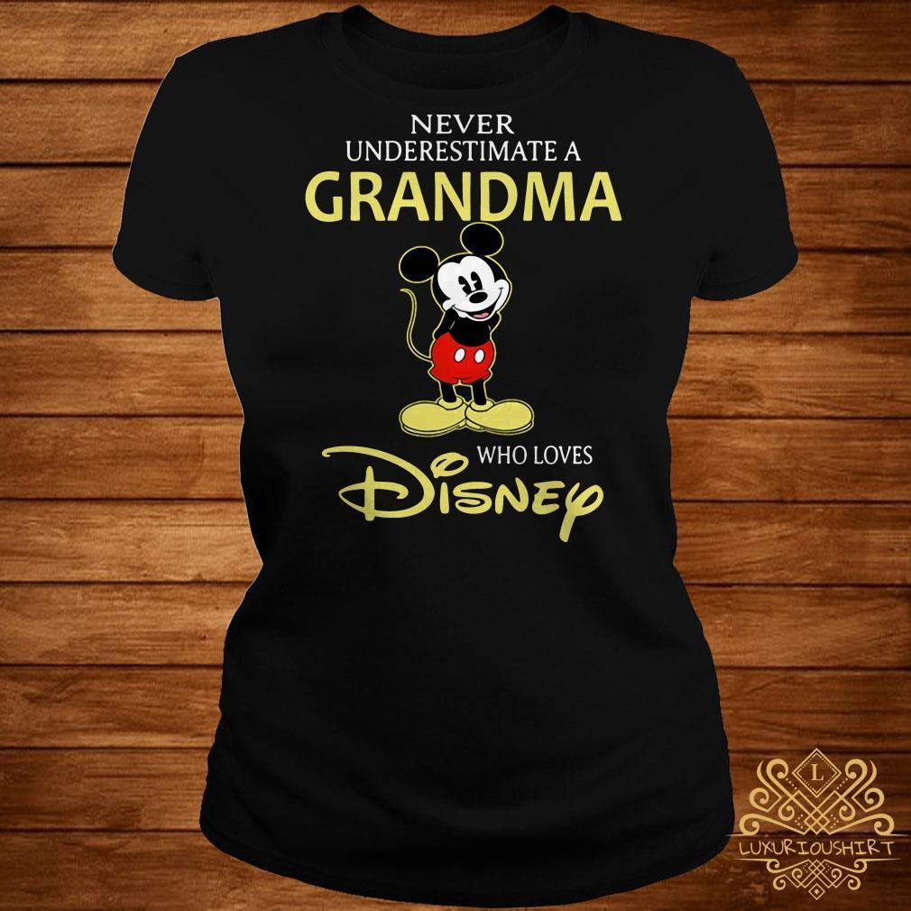 Mickey Mouse never underestimate a grandma who loves Disney shirt