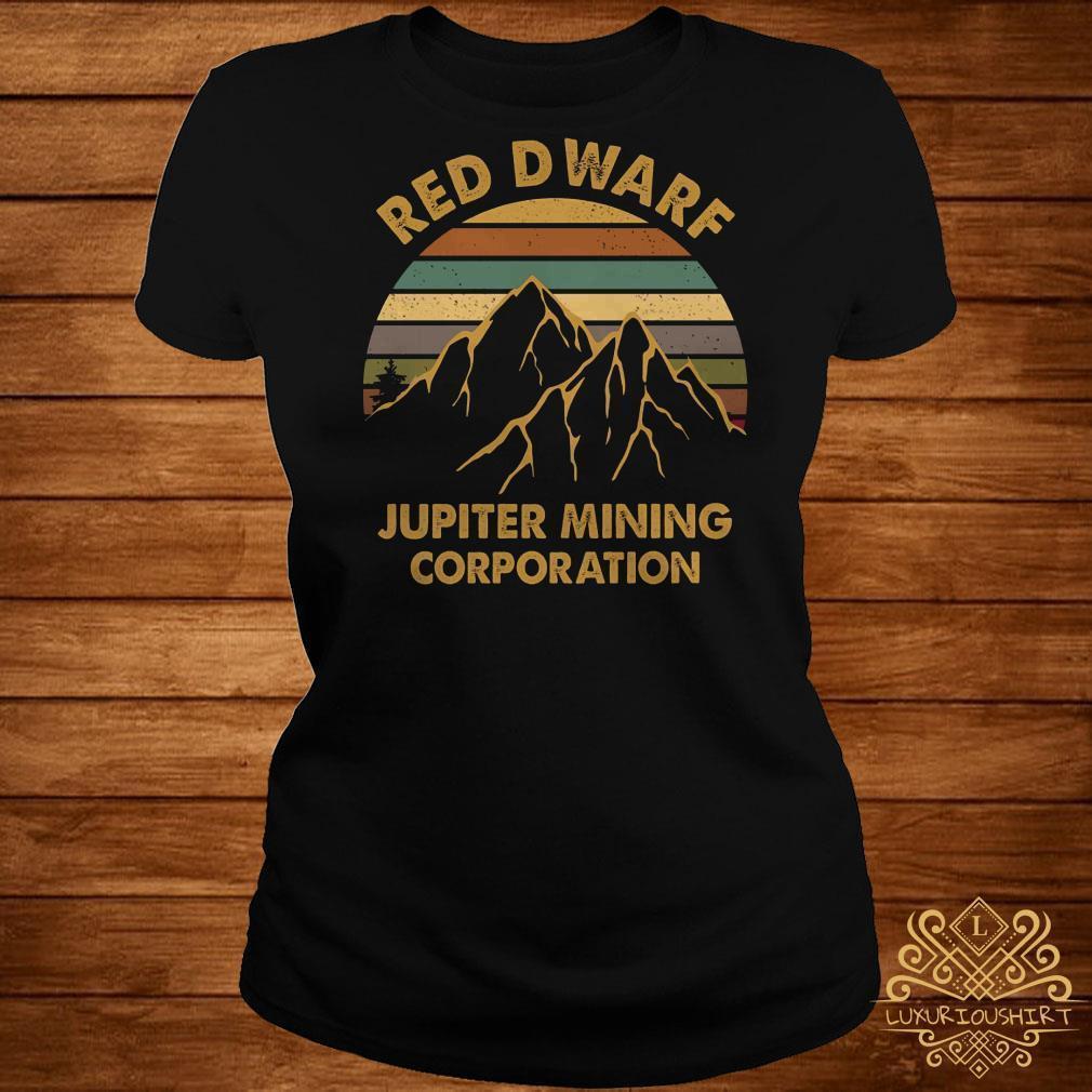 Red Dwarf Jupiter Mining Corporation sunset shirt