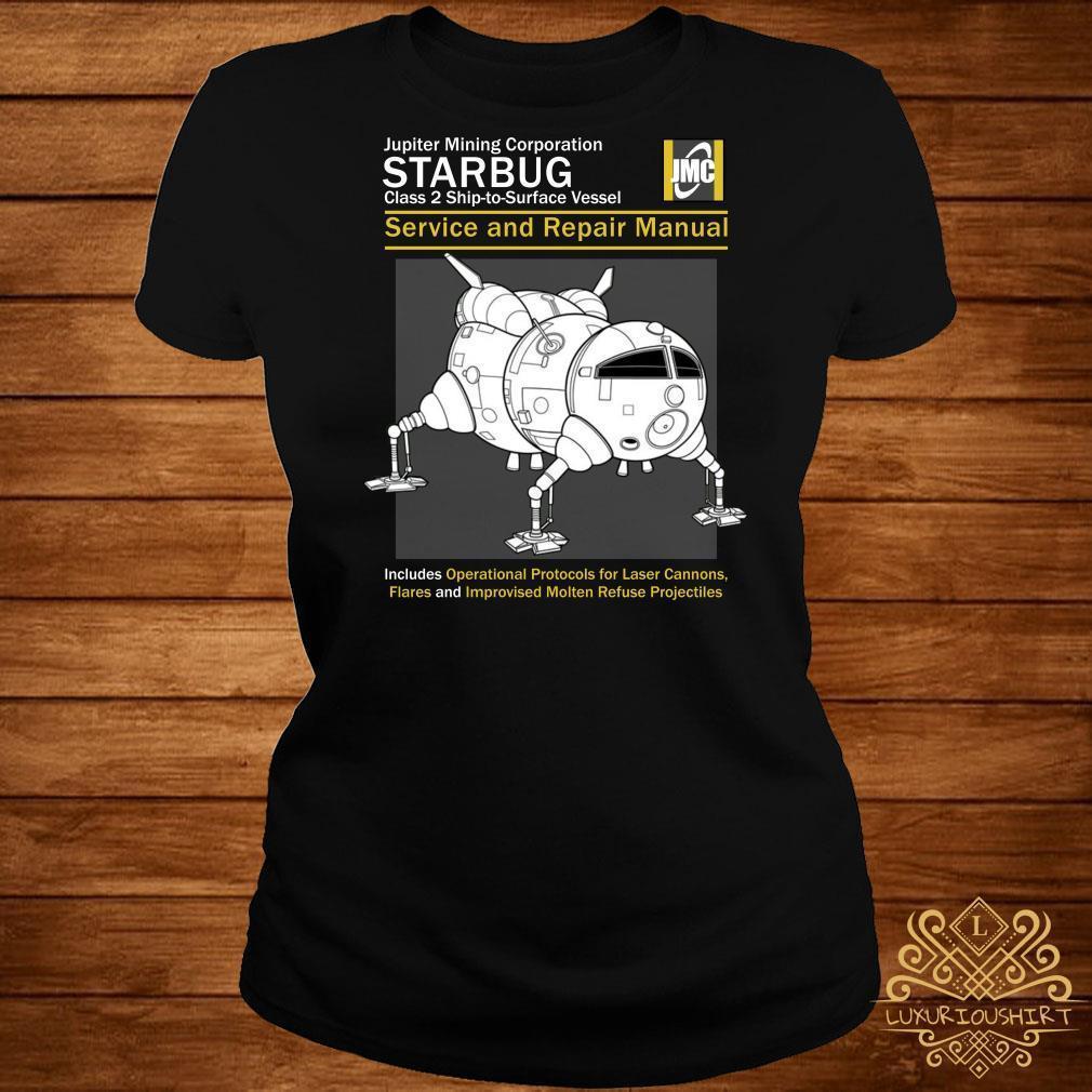 Red Dwarf Starbug Service and Repair Manual shirt