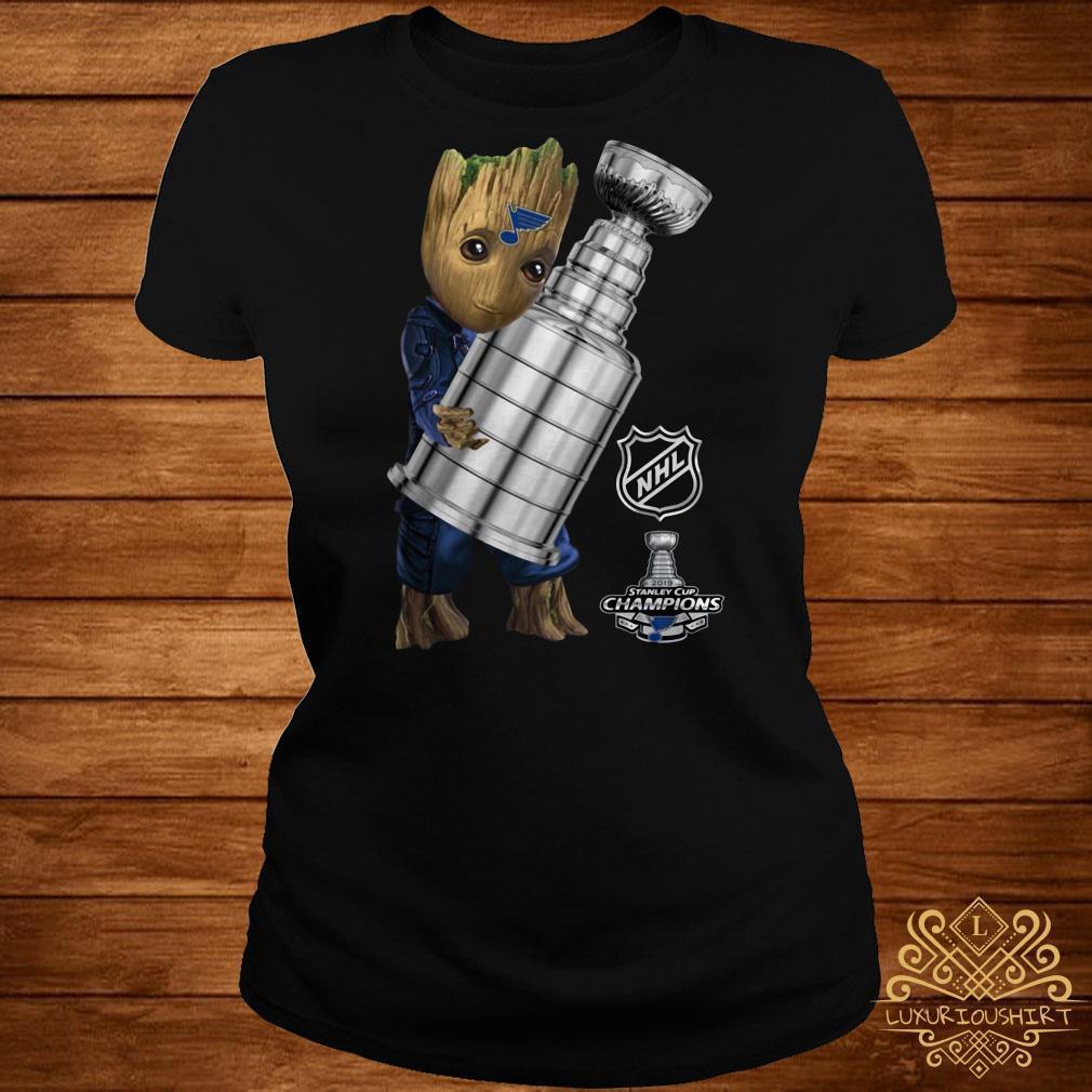 St. Louis Blues Baby Groot Hug Stanley Cup Champions 2019St. Louis Blues Baby Groot Hug Stanley Cup Champions 2019