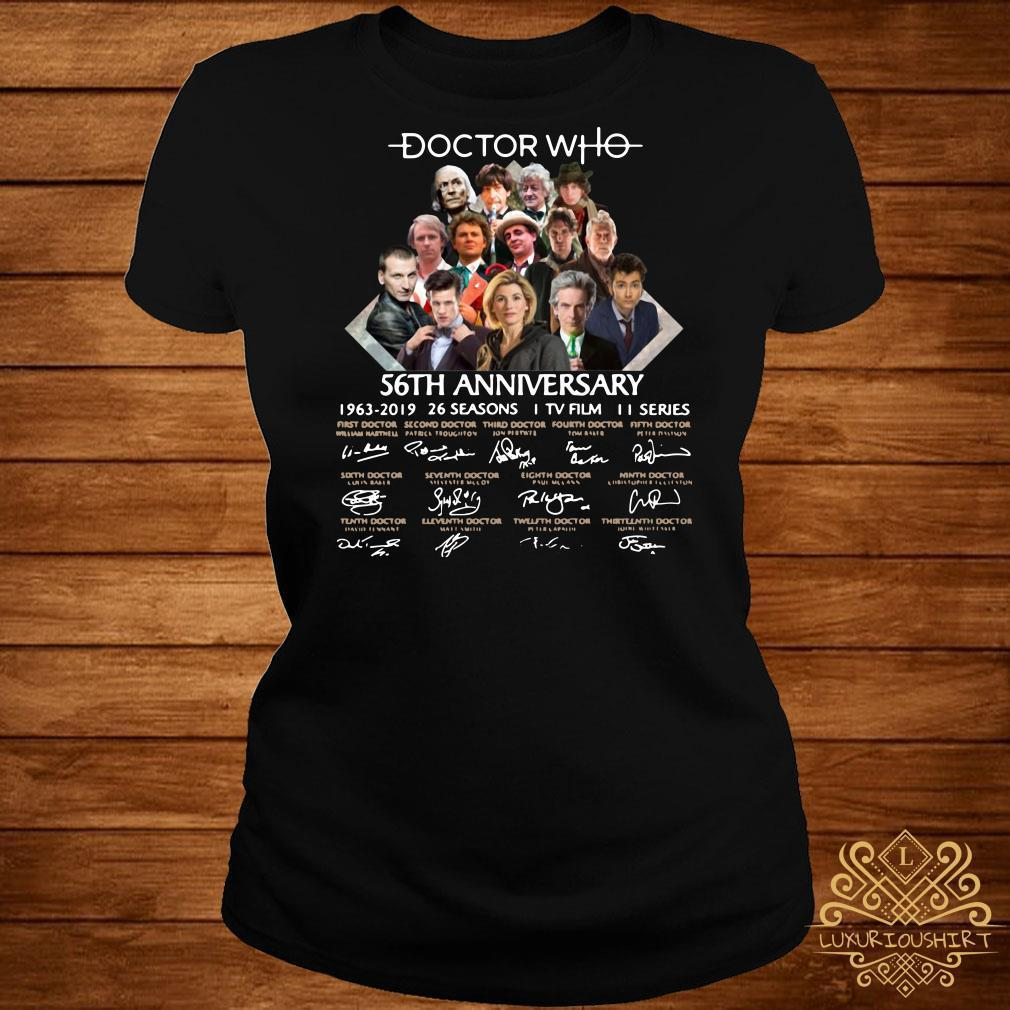Doctor Who 56th anniversary 1963-2019 signature shirt