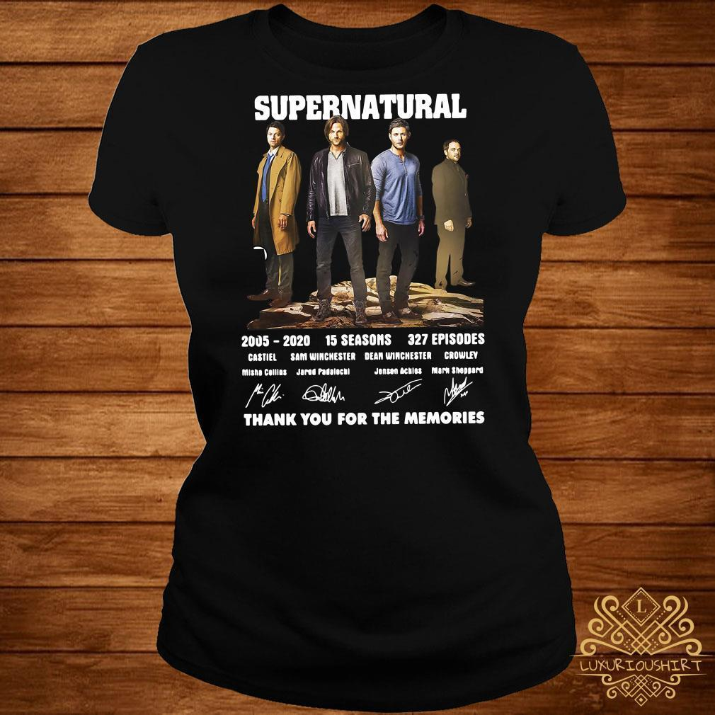 Supernatural 2005-2020 thank you for the memories signatures shirt