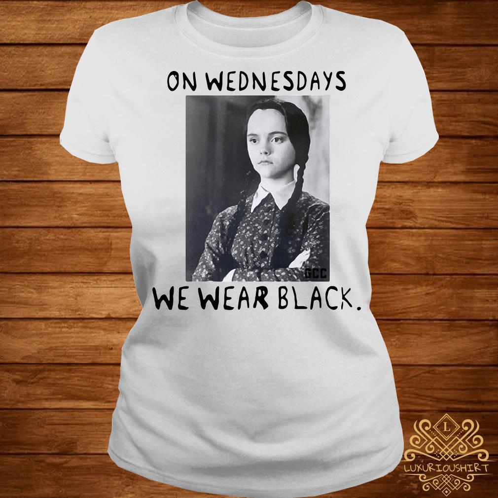 Wednesday Addams On wednesdays we wear black shirt