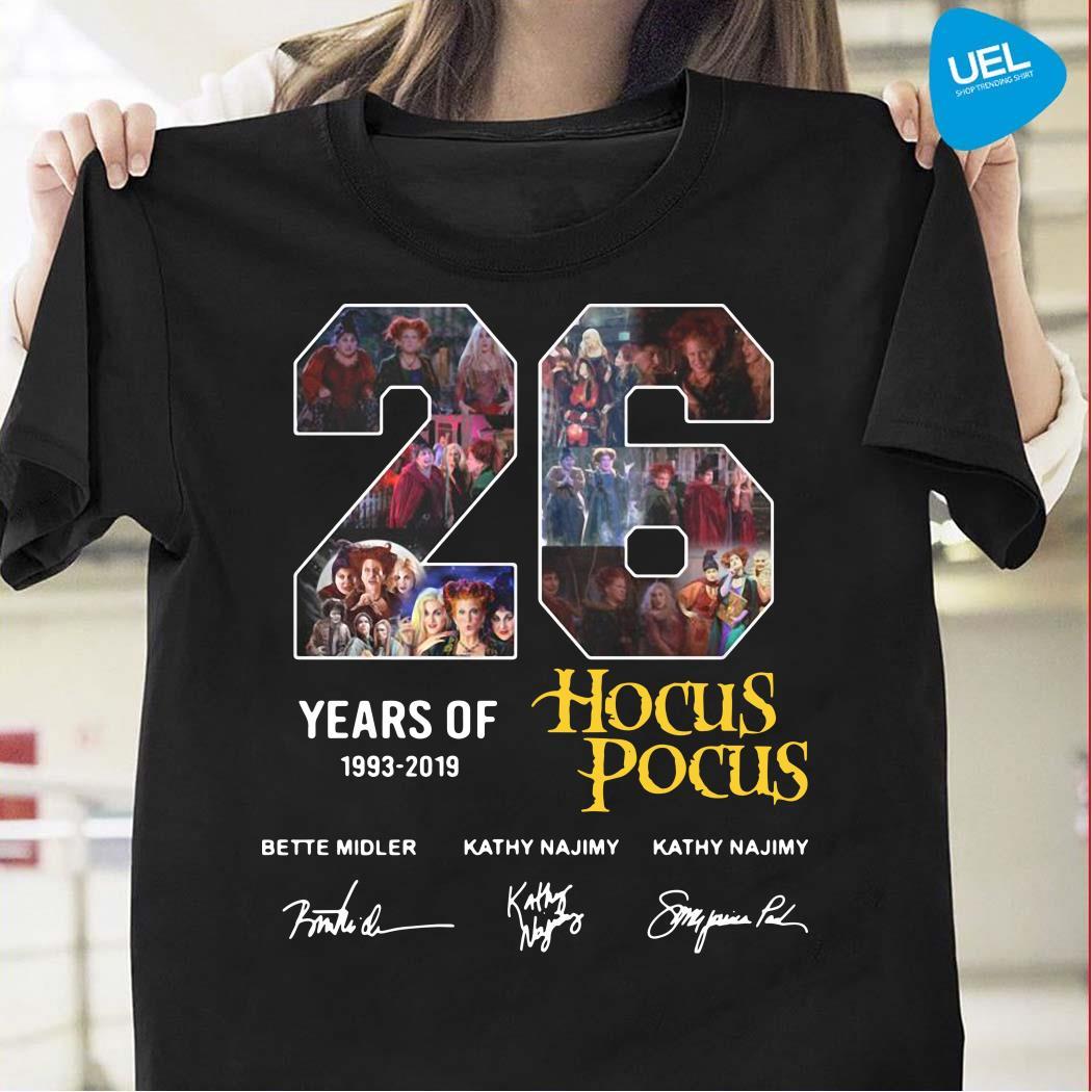 26 years of hocus pocus 1993-2019 signatures shirt