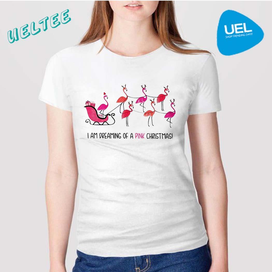 Flamingo I am dreaming of a pink Christmas shirt