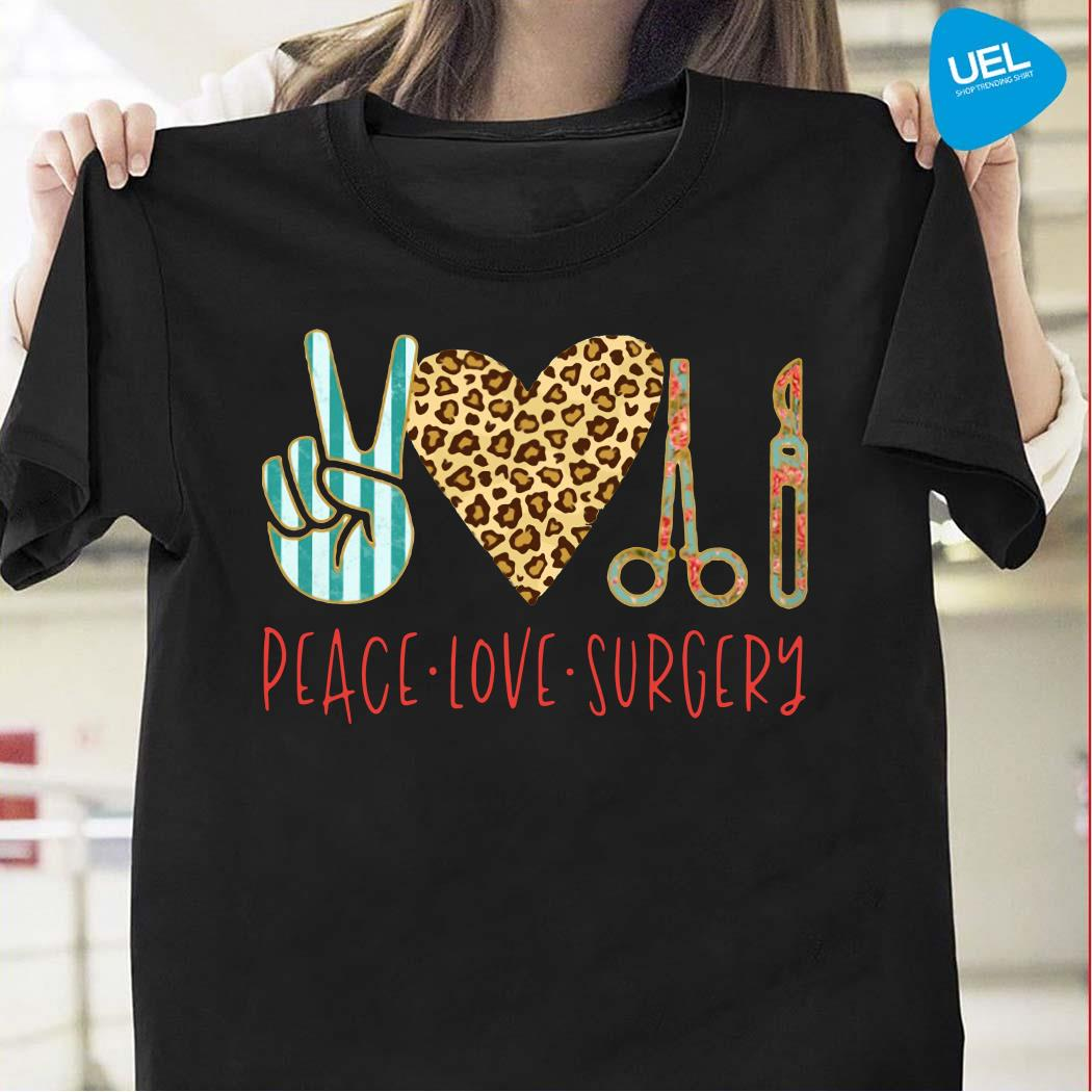 Peace love hair styling shirt