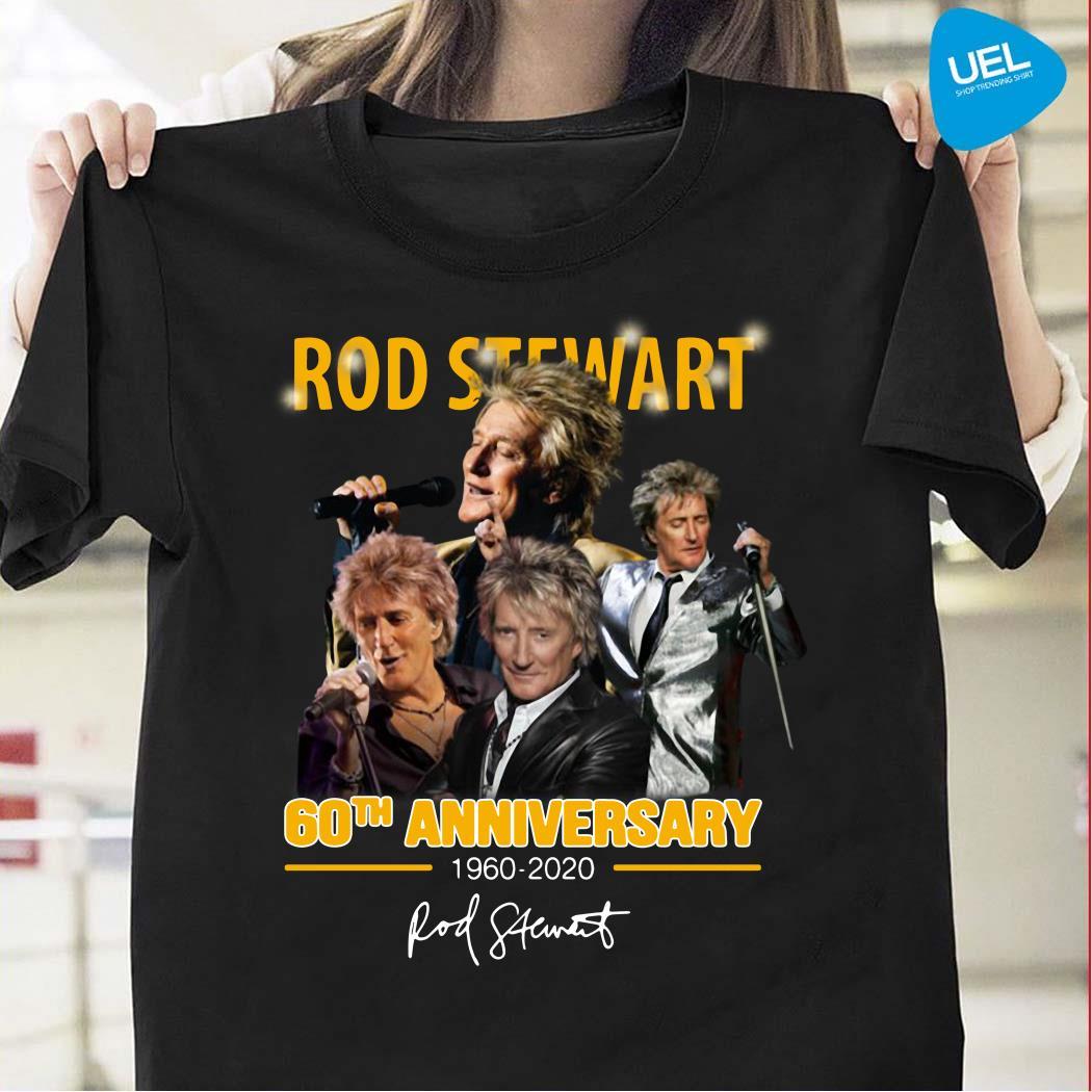 Rod Stewart 60th Anniversary 1960-2020 signature shirt
