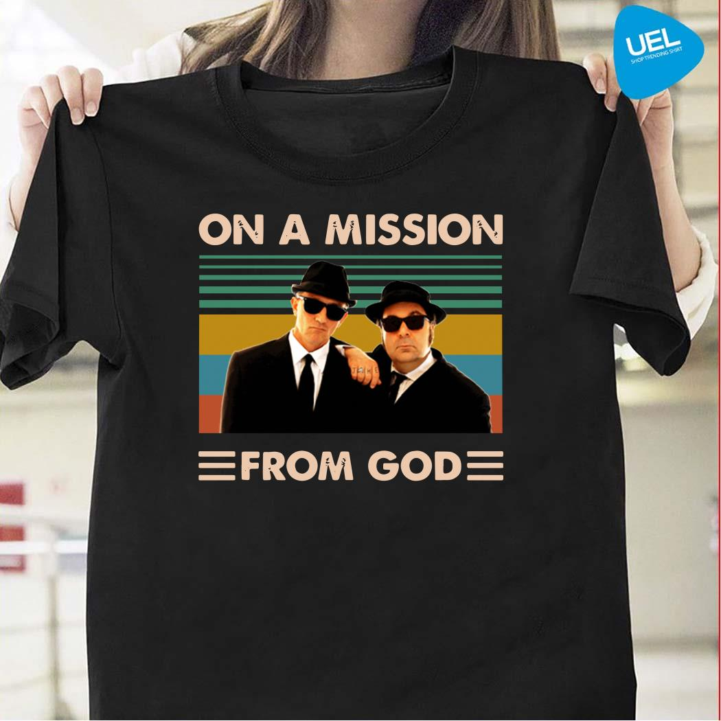 The Blues brothers on a mission from god vintage shirt