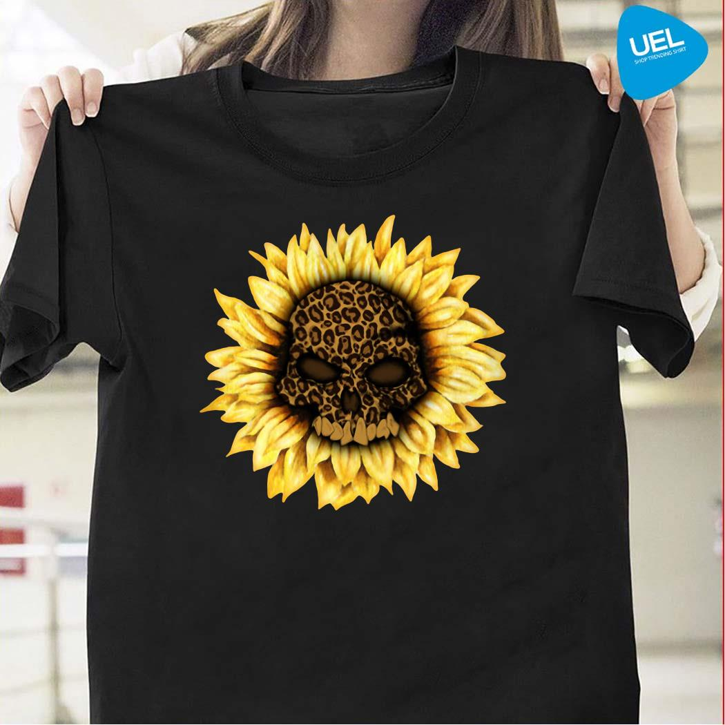 Skull Leopard sunflower shirt
