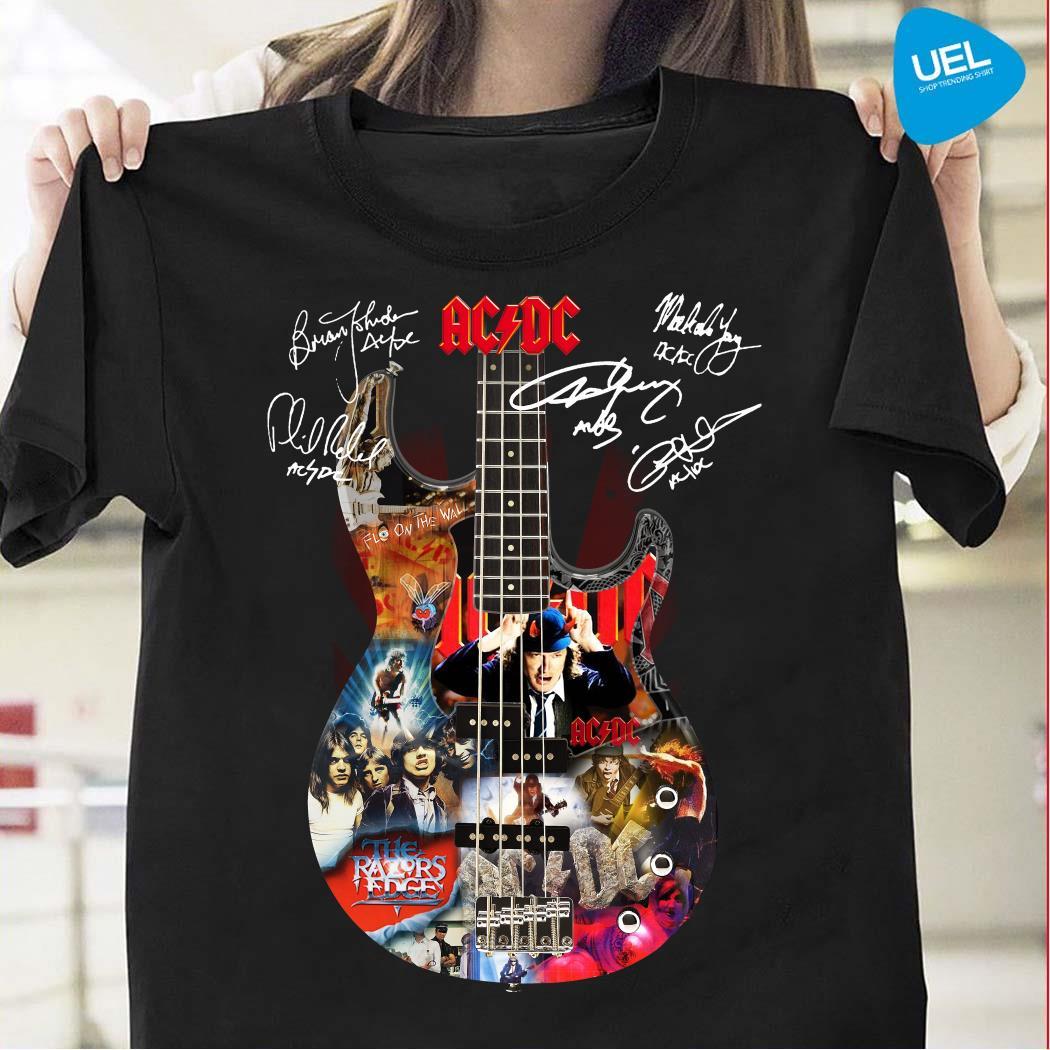 ACDC Guitar Signatures Shirt