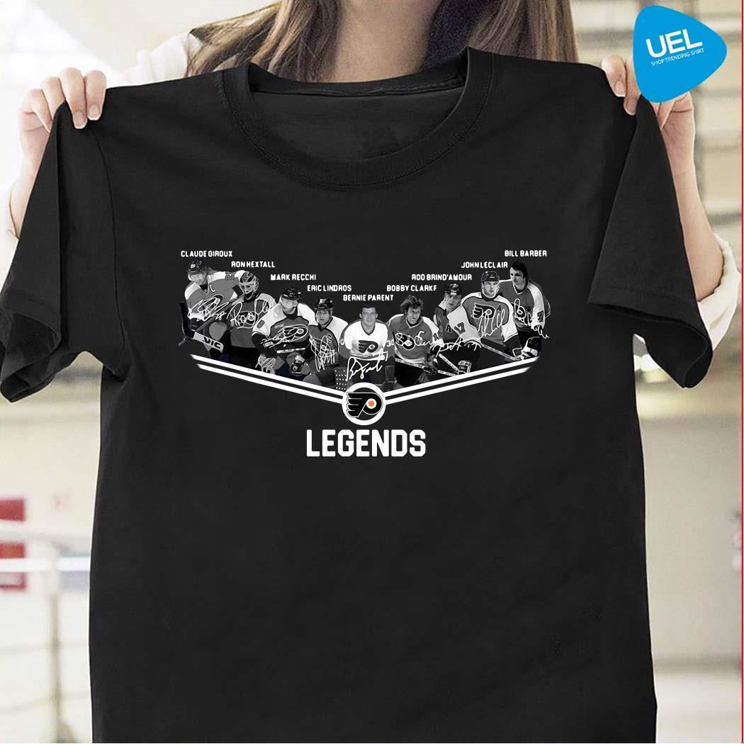 Flyers Flags Legends Team Player Signature Shirt