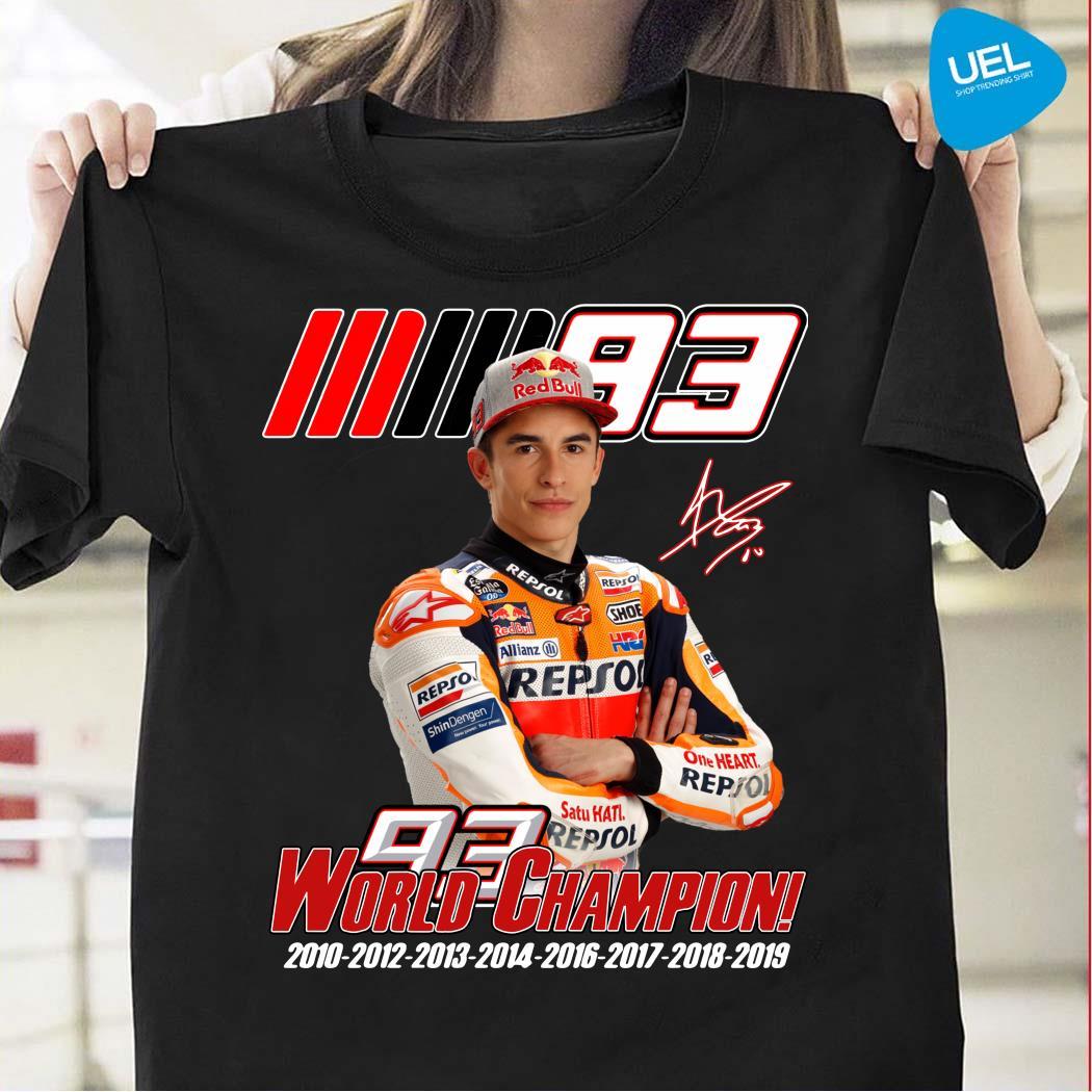 Marc Marquez MM93 world champion shirt