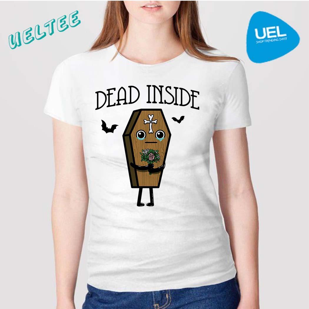 Halloween Coffin dead inside shirt