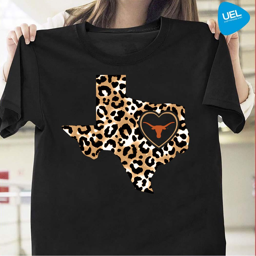 Texas Longhorns leopard layer shirt