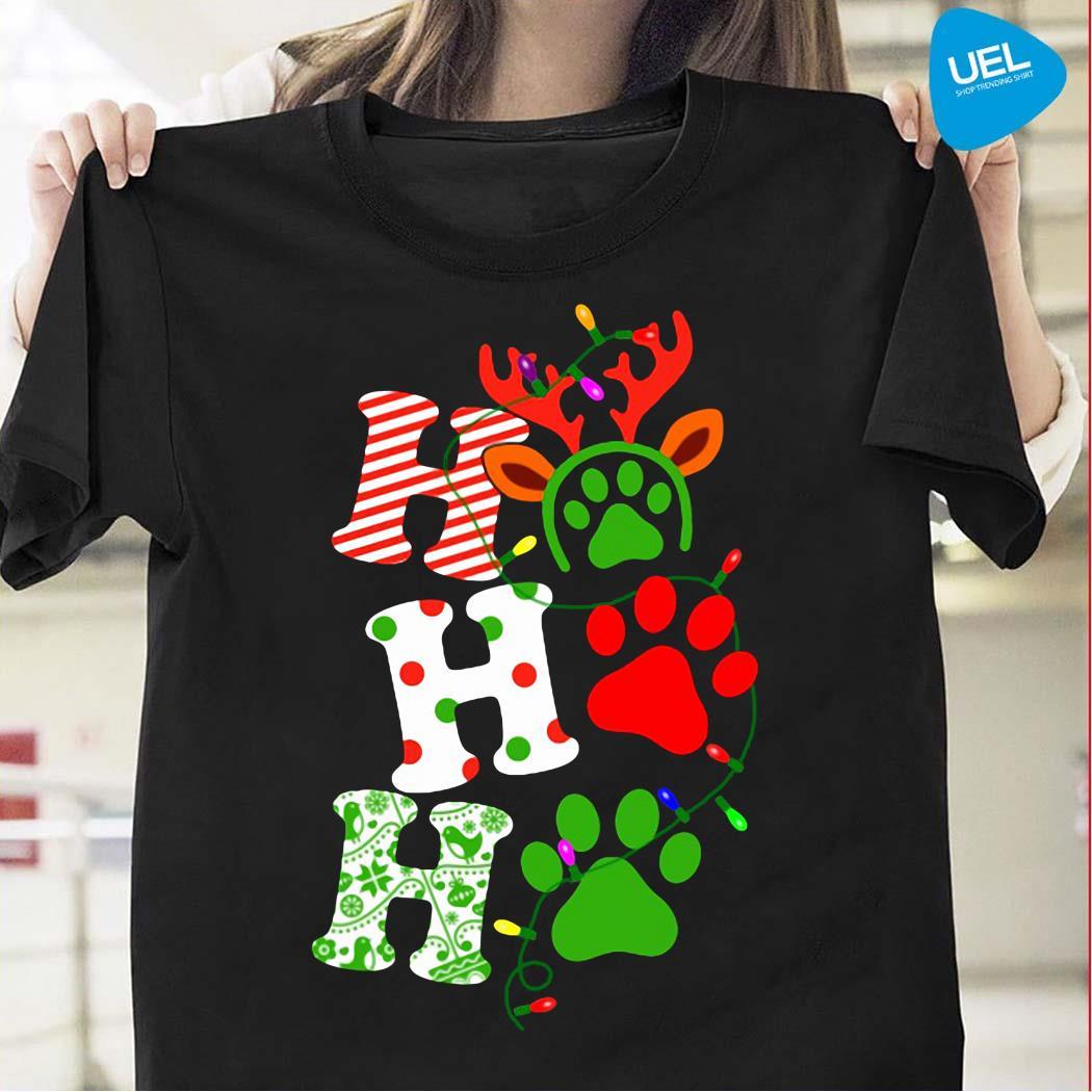 Ho Ho Ho Dog Paw Christmas Shirt
