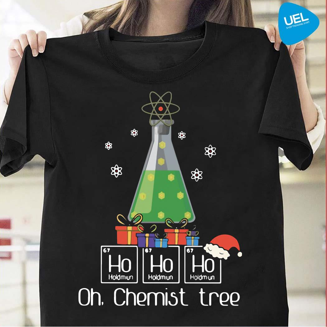 Ho Ho Ho Oh Chemist Tree Christmas Shirt