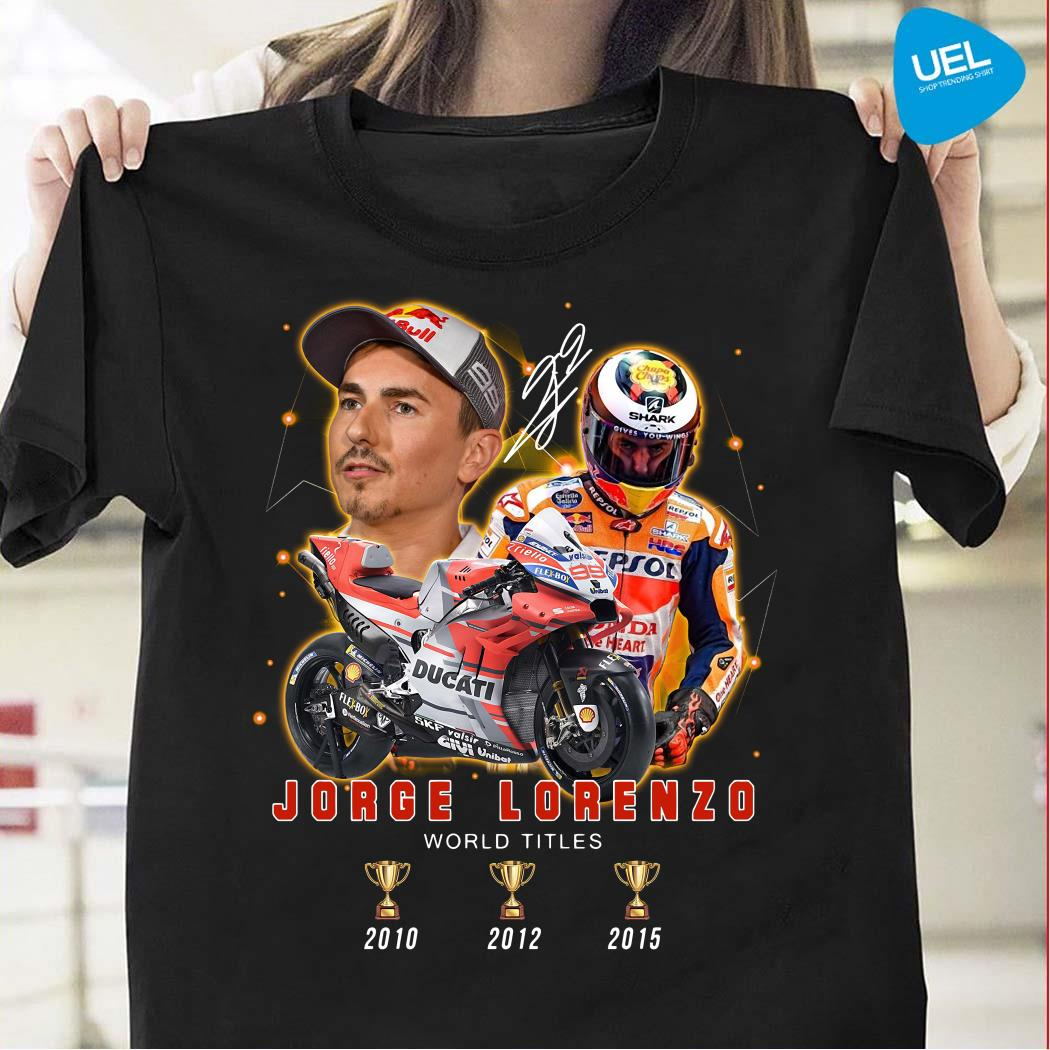 Jorge Lorenzo 3 Cup World Titles Signature Shirt