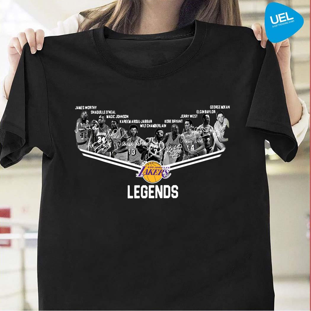 Los Angeles Lakers Legends Team Player Signature Shirt