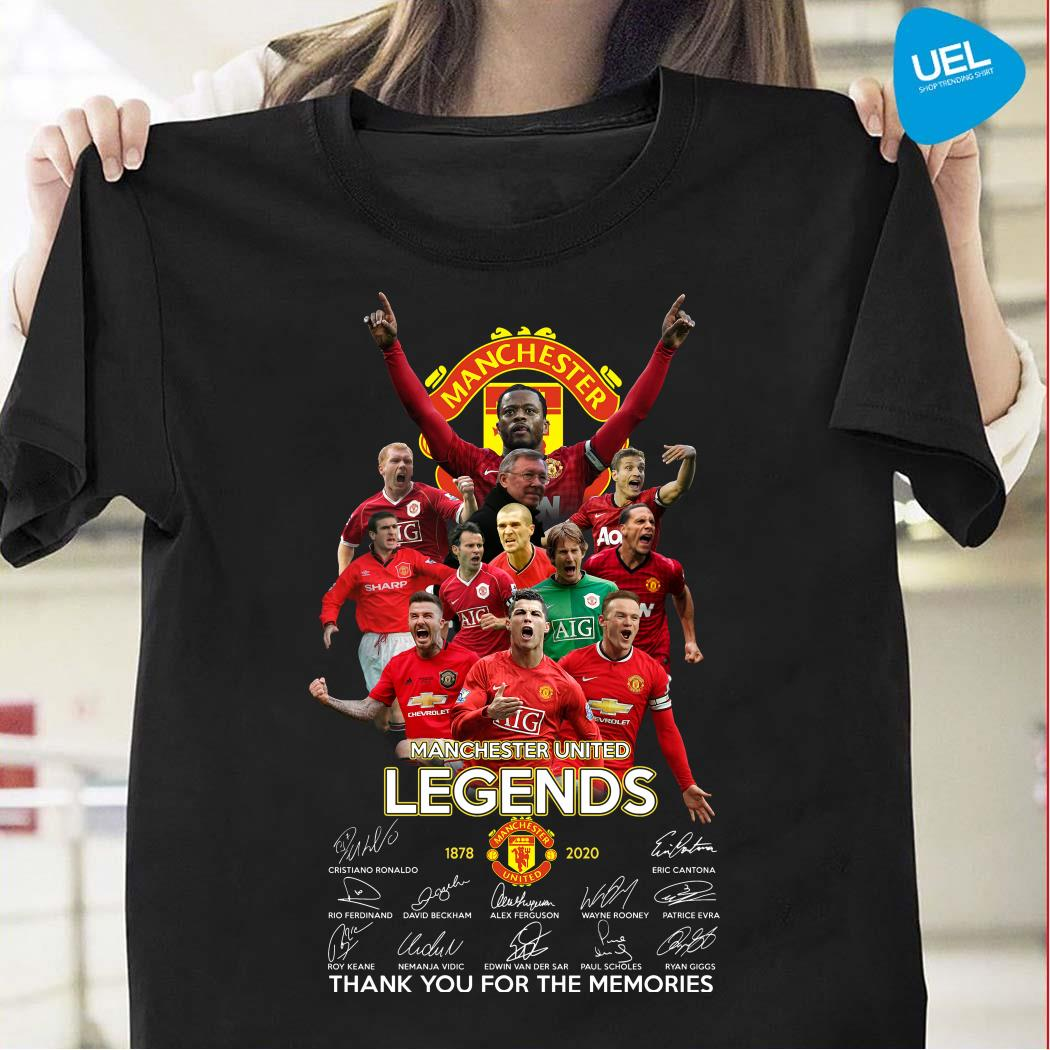 Manchester United Legend 1878-2020 Thank You For The Memories Signatures Shirt