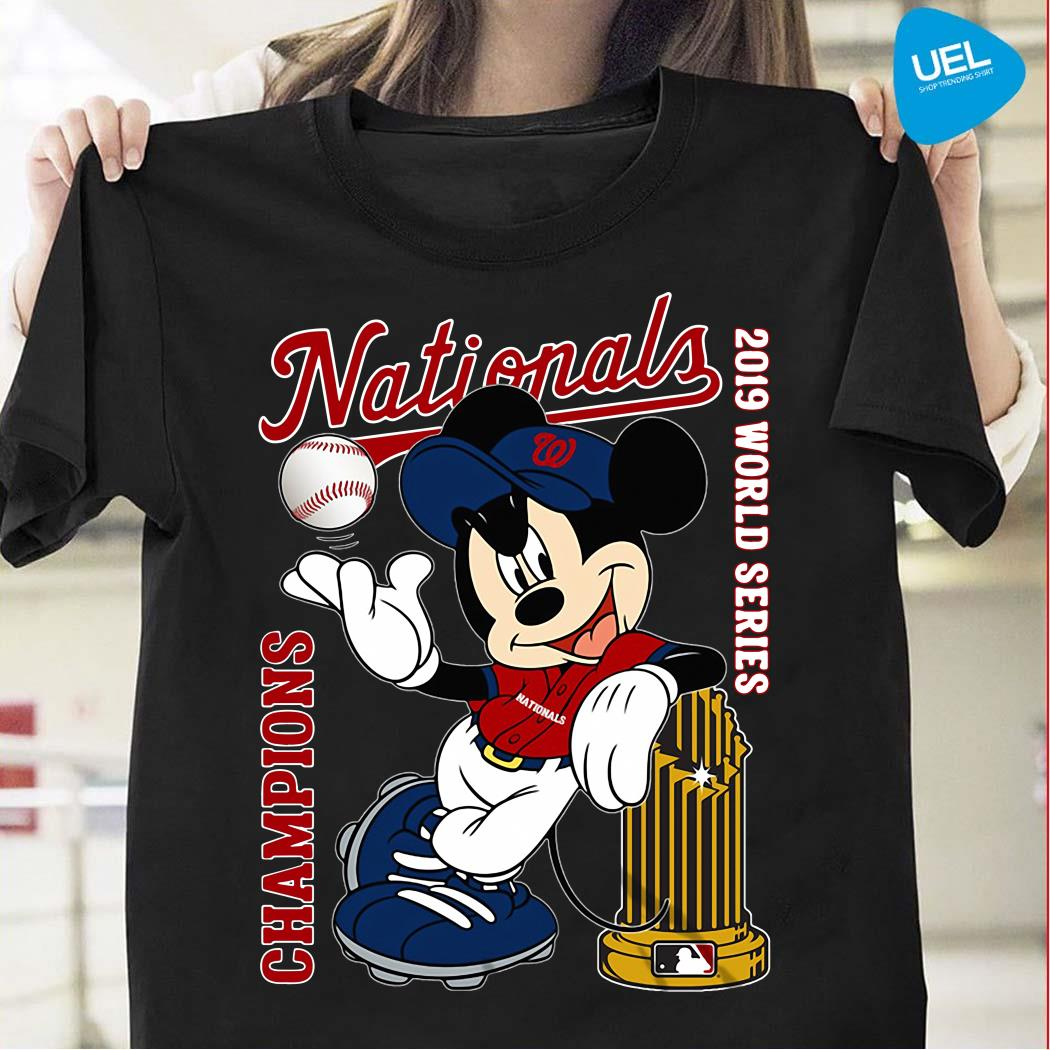 Mickey Mouse Washington Nationals Champions 2019 World Series Shirt