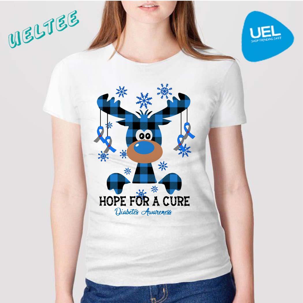 Reindeer Fuck Cancer Hope For A Cure Diabetes Awareness Shirt