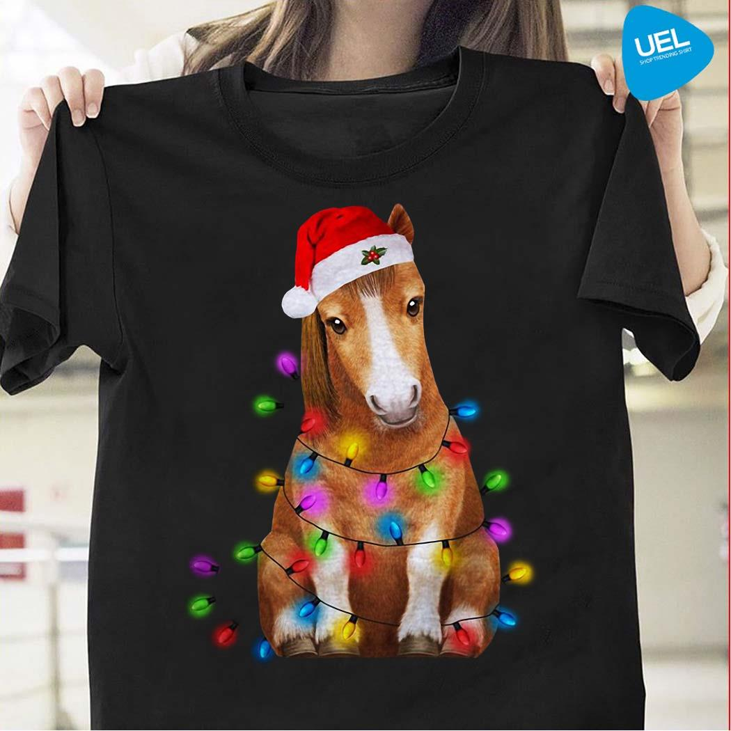 Donkey Christmas Lights Shirt