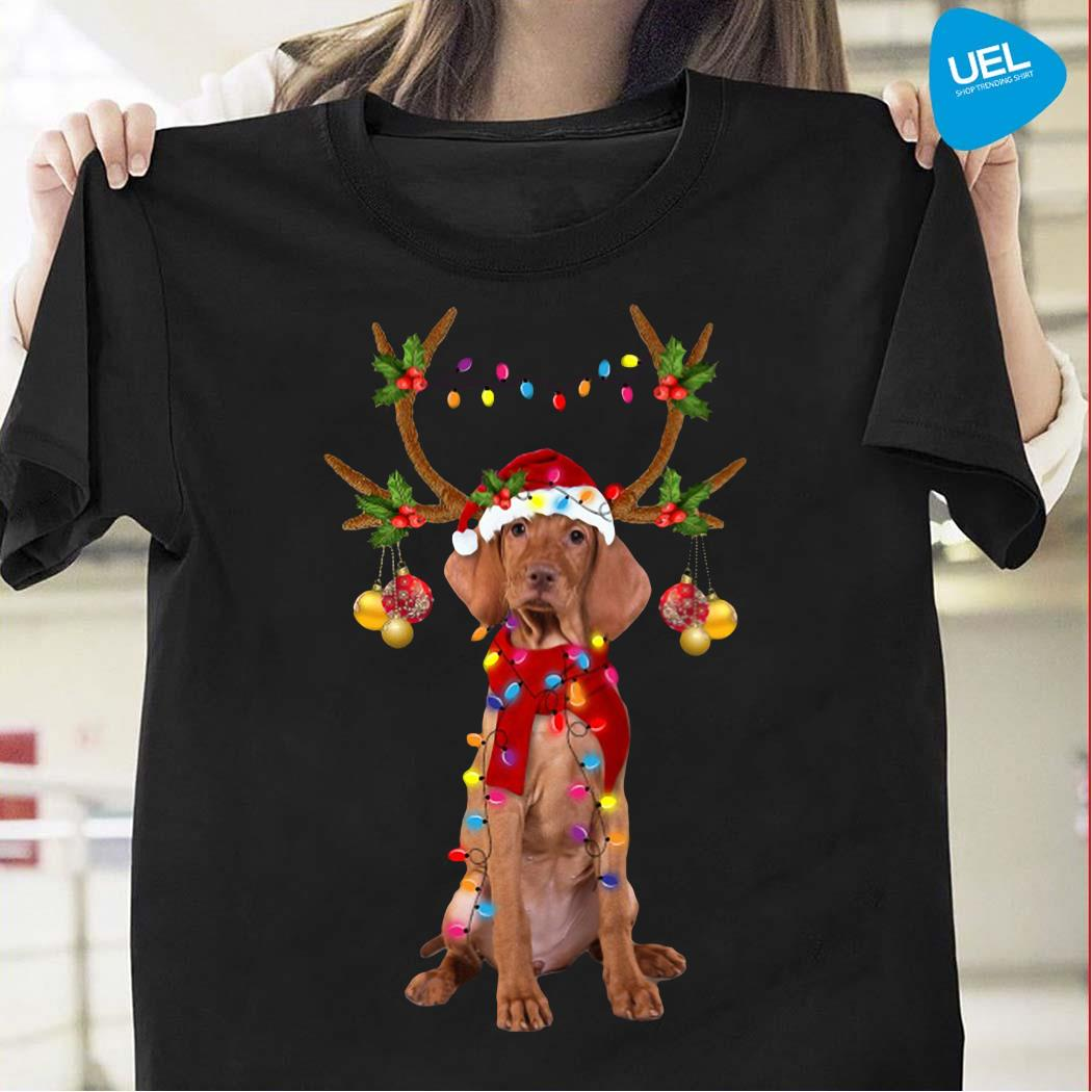Vizsla Gorgeous Reindeer Christmas Shirt
