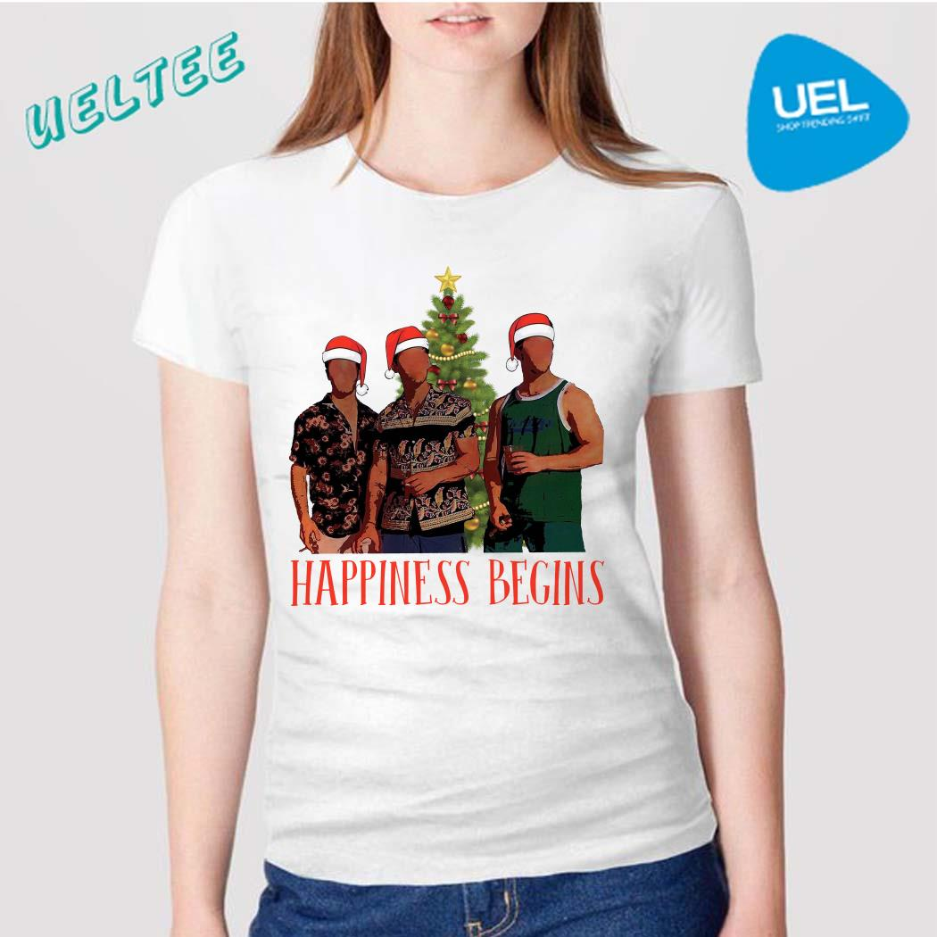 Jonas Brother Santa Happiness Begins Christmas Shirt