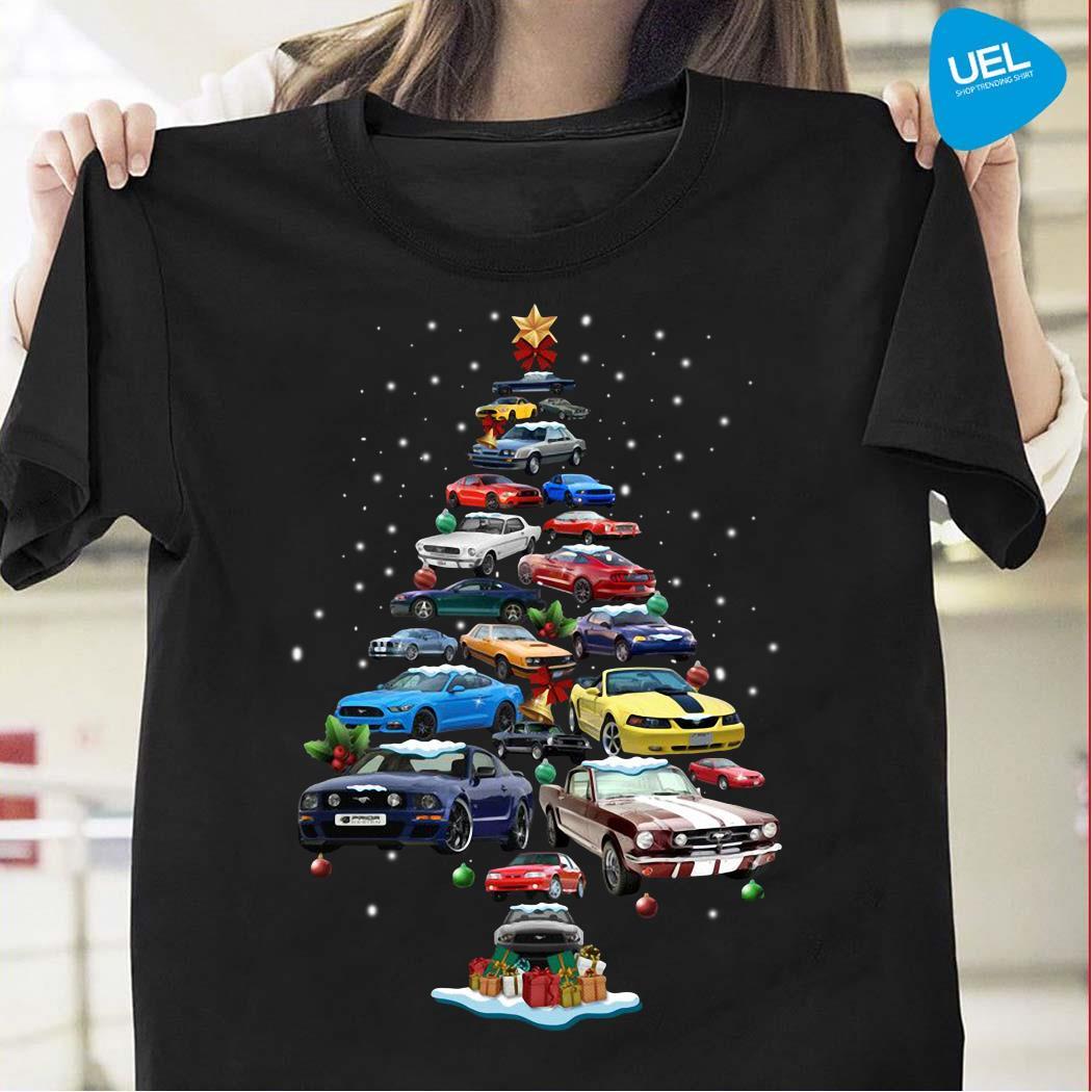 Mustang Car Christmas Tree Shirt
