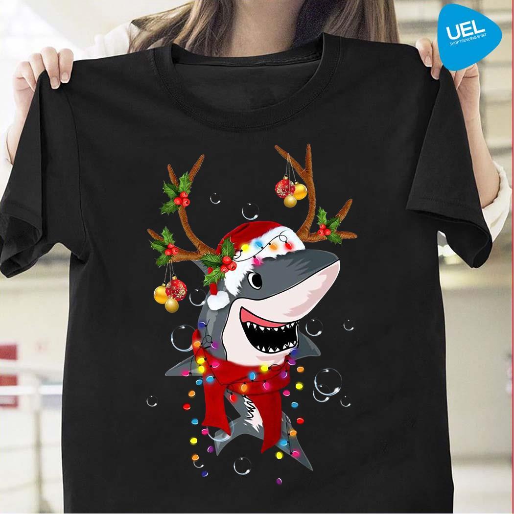 Shark Gorgeous Reindeer Christmas Shirt
