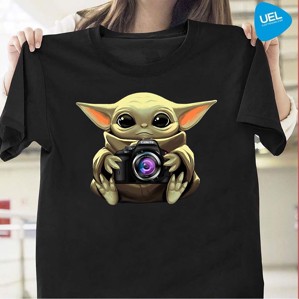 Baby Yoda Hug Camera Shirt