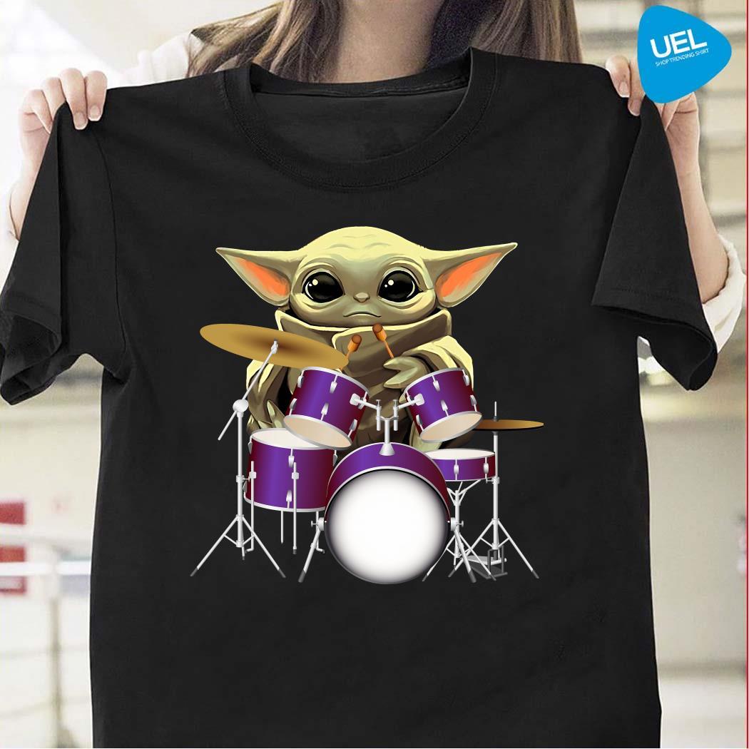 Baby Yoda Playing Drummers Shirt